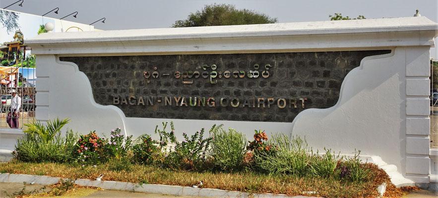 Der Flughafen von Bagan....