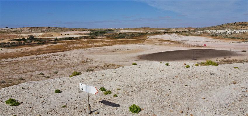 Der 18 Loch Golfplatz....