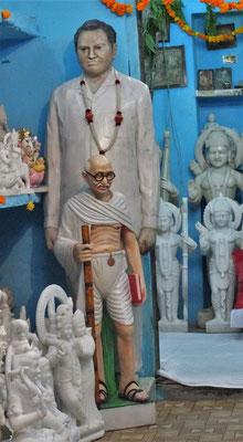 Gandhi ist immer wieder anzutreffen.