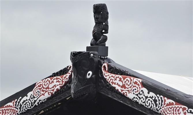 Das Dachdetail der Bühne.