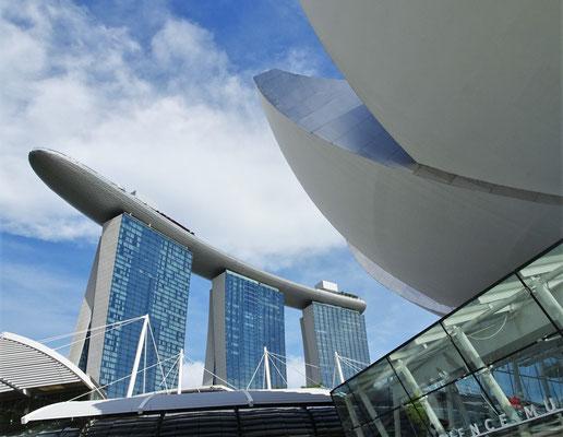 Unser Hotel das Marina Bay Sands.
