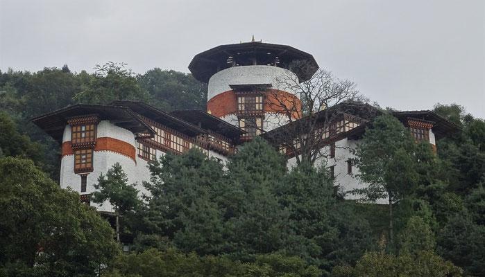 Der Wachturm oberhalb des Dzongs