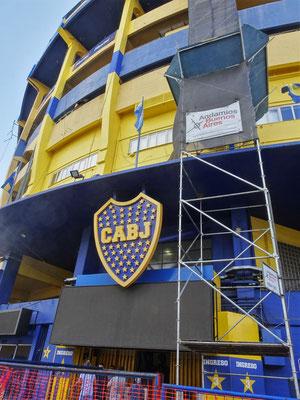 .....des Fussball Clubs Boca Juniors das....