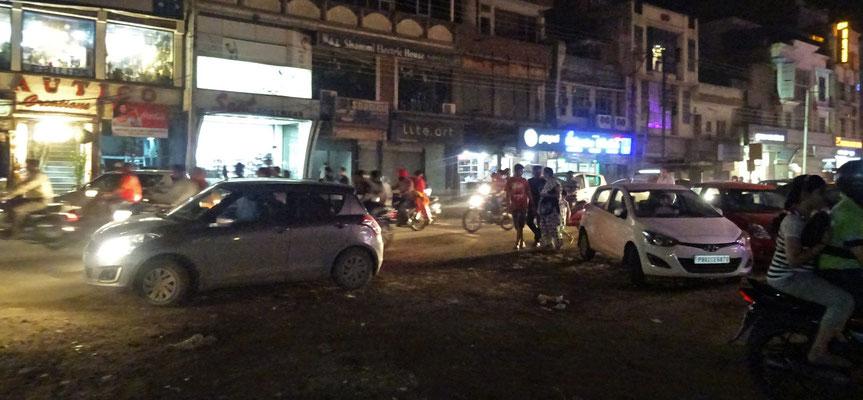 Der Abendverkehr in Amritsar...
