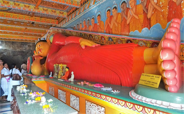 Der liegende Buddha...