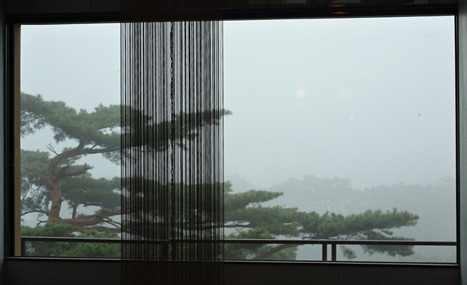 Die Sichtweite am nächsten Morgen.