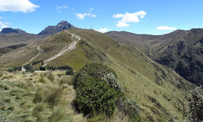 Der Weg zum Gipfel des Pichincha.....