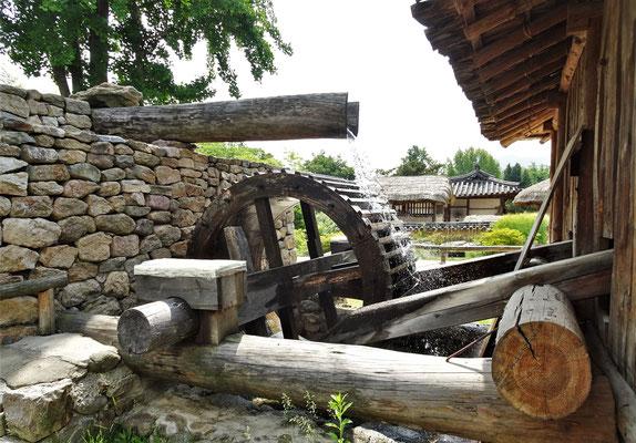 Eine Reismühle.