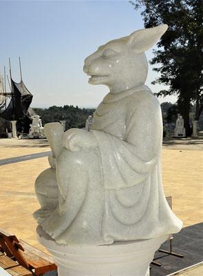 Eines der 9 Tempeltierfiguren.........ein Hase.