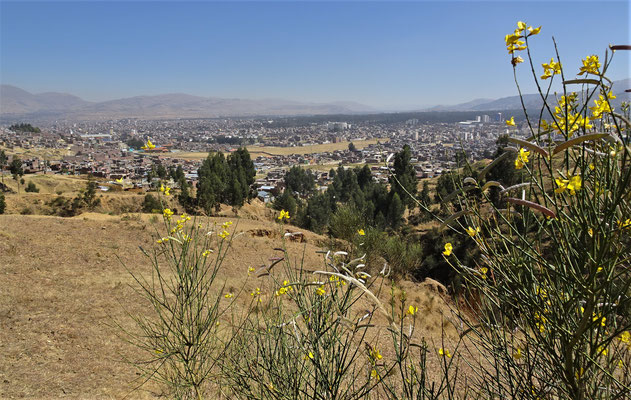 Der Blick auf Huancayo.