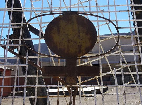 Das Das Symbol der Codelco Mine.