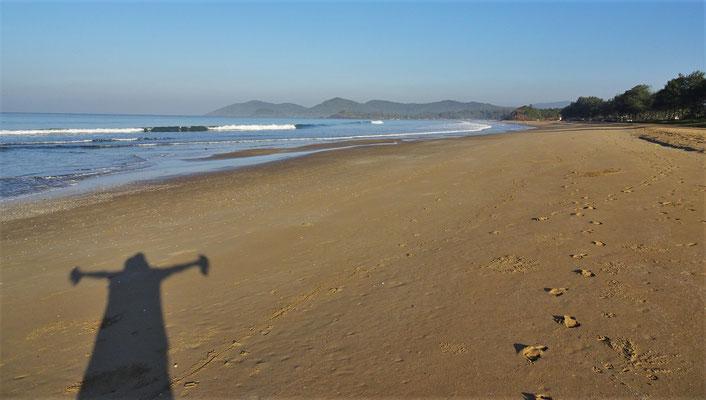 Die schöne Patnem Beach...