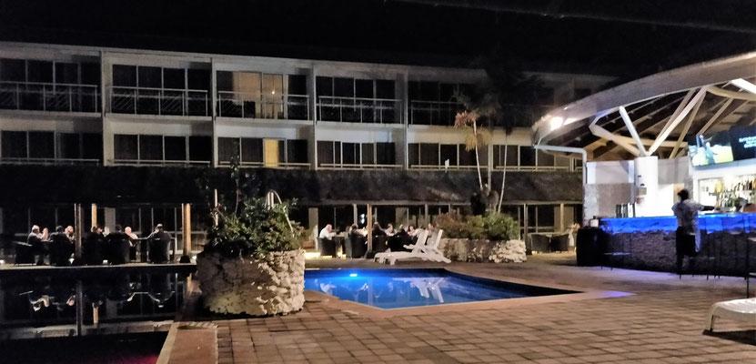 Das Hotel Melanesia in Port Vila für die zusätzliche Nacht.