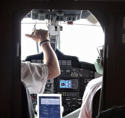 ...mit dem offenen Cockpit.