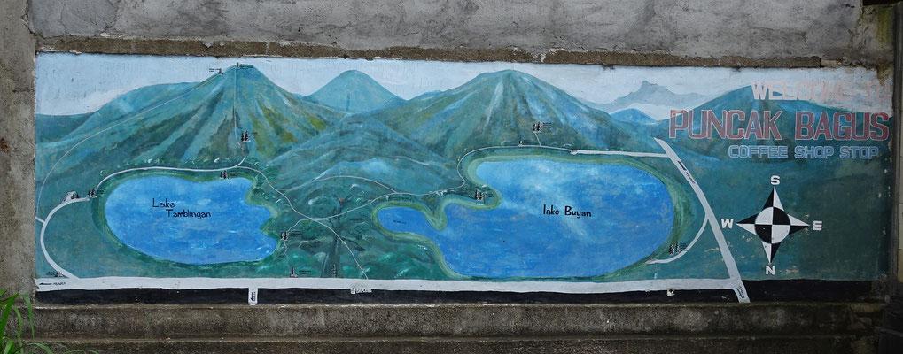 Übersicht über die beiden Seen.