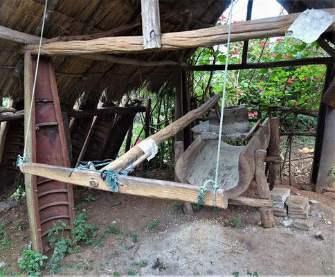 Eine Handmühle.