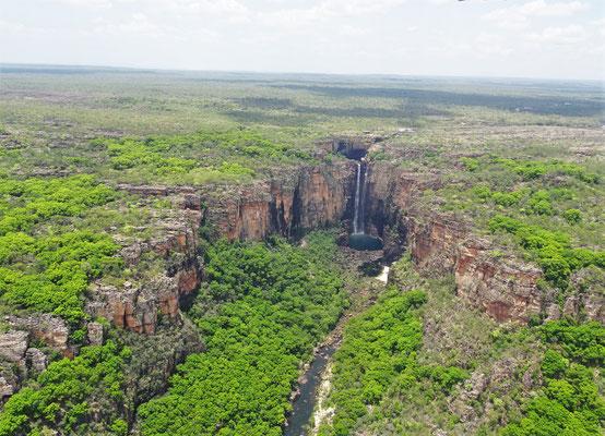 Der Jim Jim Wasserfall.....