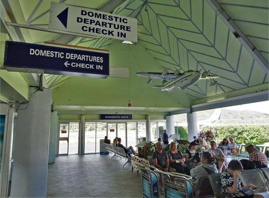 Die Wartehalle von Rarotonga.