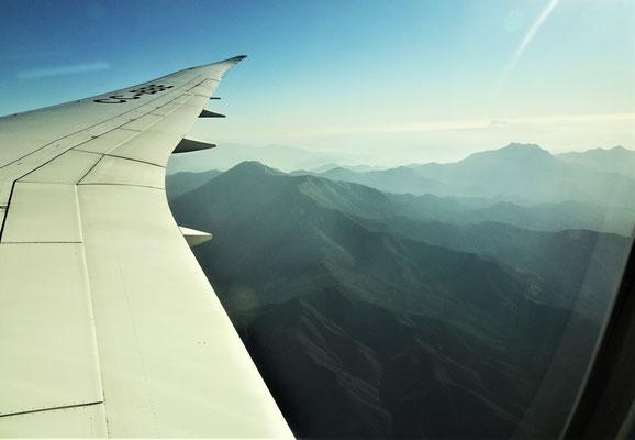 .....die Ankunft in Santiago mit Sonne.