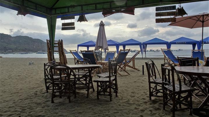 Von einer Strandbar....