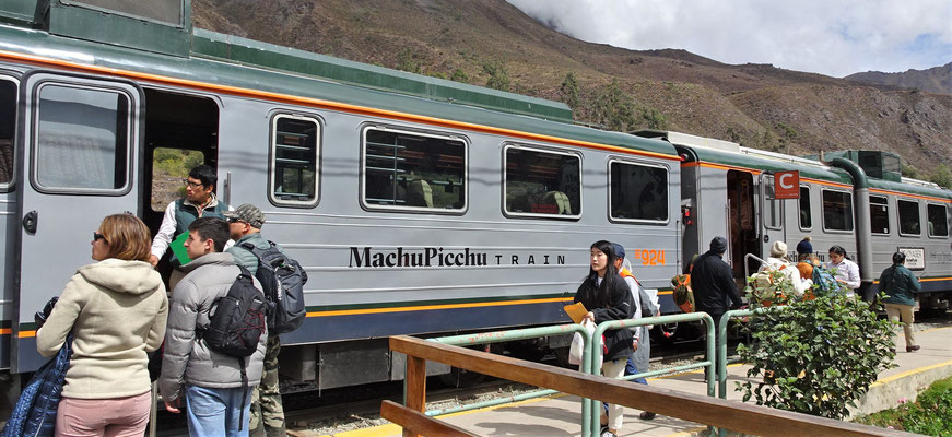 Mit dem Machu Picchu Train der Inca Rail nach Aguas Calientes.