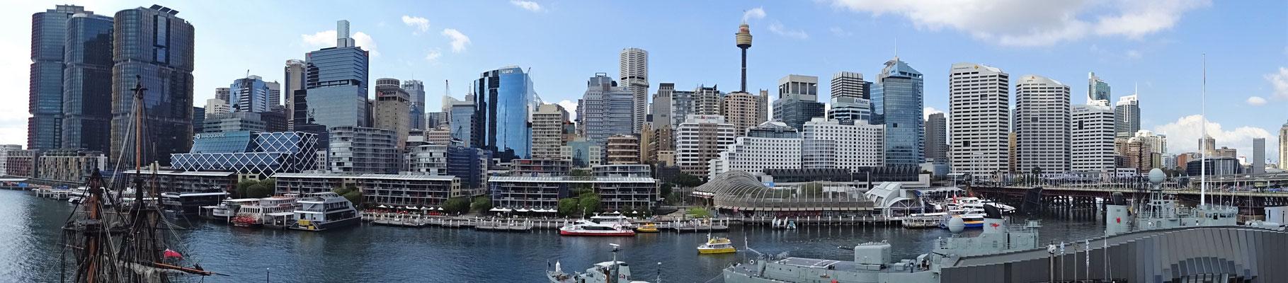 Die Skyline von Sydney.