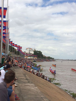 Riverside Phnom Penh during Water Festival