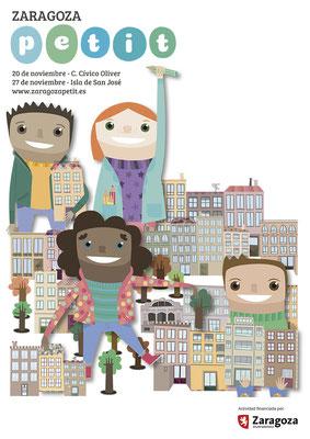 Diseño de logotipo y cartel para Zaragoza Petit. Noviembre, 2016