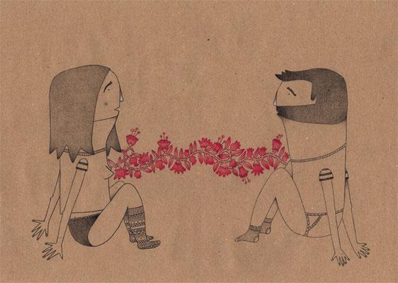 Chica & Chico. Ilustración personal. Noviembre, 2014