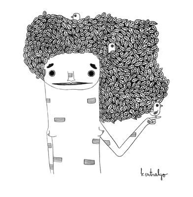 Chica árbol, ilustración personal. Noviembre, 2015