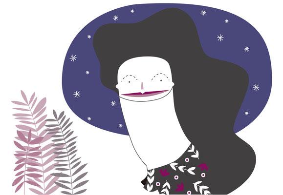 Nocturna, ilustración personal. Junio, 2015
