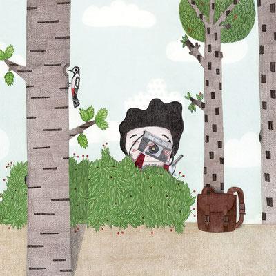 Ilustración perteneciente a ¡CLIC!, álbum ilustrado escrito e ilustrado por mí. Mayo, 2016