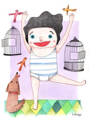 Isidoro. Ilustración personal. Marzo, 2014