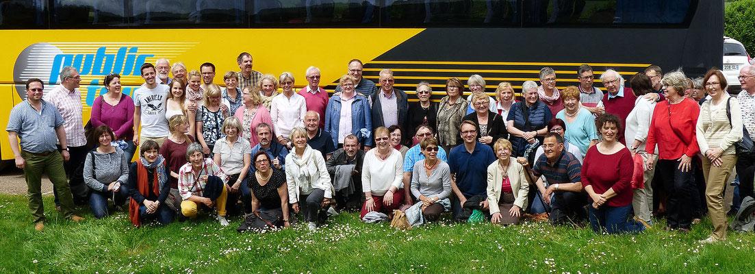 Gemeinschaftsbild beim Abschied von Auxerre