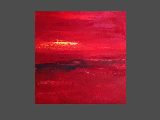 rotes abstraktes Bild - Thema YOGA