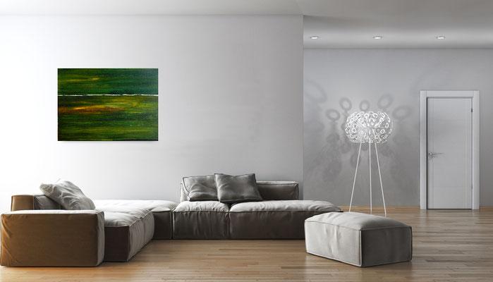 acrylbildgrün