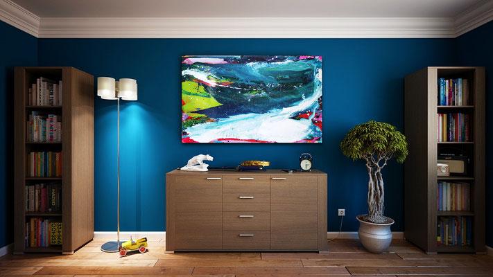 blaue Gemälde