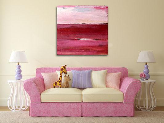 abstrakte bild rosa