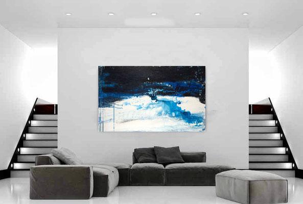 blaues Gemälde