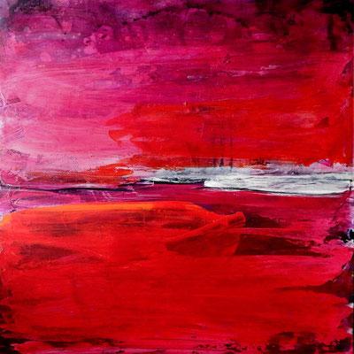 Beruhigende rote Gemälde