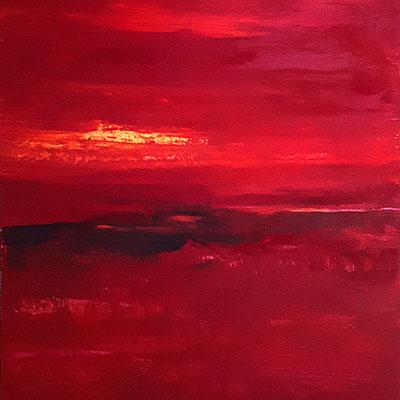 rote abstrakte große Landschaft