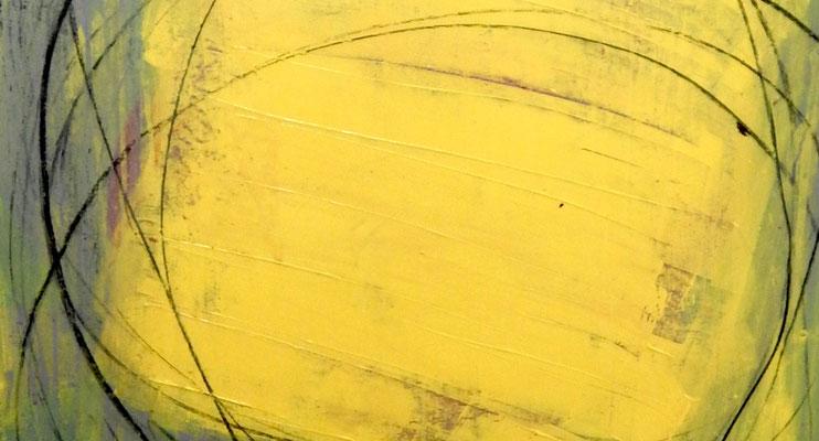 gelbes modernes Bild im Detail
