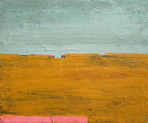 abstrakte Spachtelarbeit Landschaft