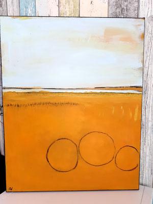 Bilder Strohballen - Drei Kreise für Familienmitglieder (symbolisch gesehen)