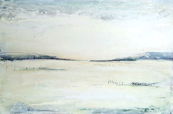 Weiß Beige Landschaftsbild für Sofa