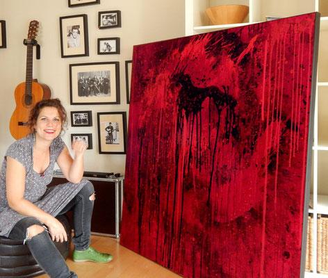 knst rote Gemälde