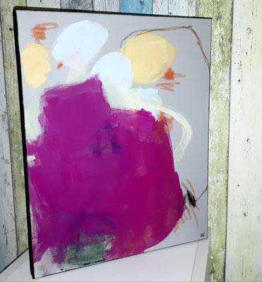 Bild Grau Pink Hellblau