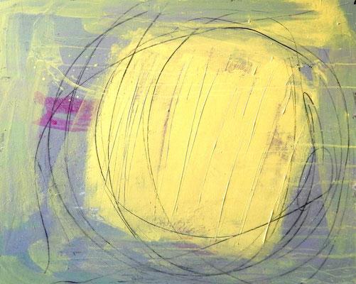 gelnes grünes modernes Gemälde