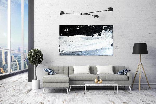 s/w Gemälde 120 x 80 cm