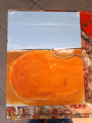 Seeplatz - orange Bild